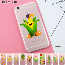 DREAM FOX K274 Corn Soft TPU Silicone Case Cover For Apple iPhone 8 X 7 6 6S Plus 5 5S SE 5C 4 4S(China)