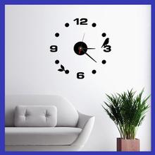 2016 Fashion 3D wall clock Frameless Wall Clock Style Watches Hours DIY Room Home Decorations Model Acrylic  Clock