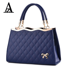 Aitesen vintage bow pu leather handbag women famous brands louis designer tote bags michael neverfull party bag bolsas femininas