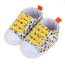 Toddler Soft Soled Anti-slip Baby Canvas Floral Shoes babyslofjes leer crochet shoe sole Drop shipping