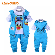 for 18 month - 6 yrs 2017 New Children Clothing Sets Baby Boys girls Cartoon Clothes Hoodies+Pants 2pcs Boys Clothing Set