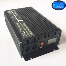Brazil 1000W Power Inverter 2000W 12V/24V/48V DC to 127V/220V AC 60HZ Off Grid Pure Sine Wave with LCD Display USB