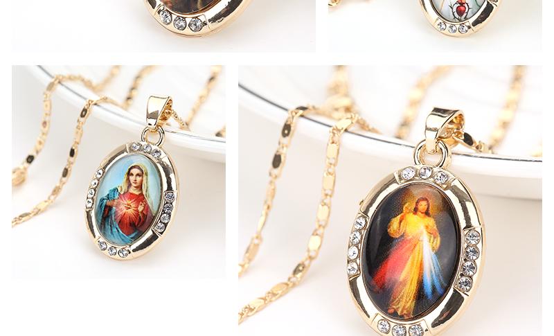 AYAYOO Necklaces&Pendants Gold Color Jesus Virgin Mary Necklace Women Chain Fashion Long Necklace Wedding Men Vintage Necklaces (2)