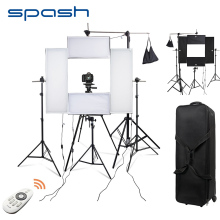 spash 4 in 1 LED Photography Lighting Headshot Lighting Kit Portrait Photo Studio Dimmable 5500K CRI95 Wireless Remote control(China)