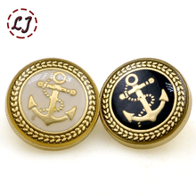 new fashion sewing metal button 10pcs/lot paint oil anchor decorative buttons British style for overcoat garment accessories DIY