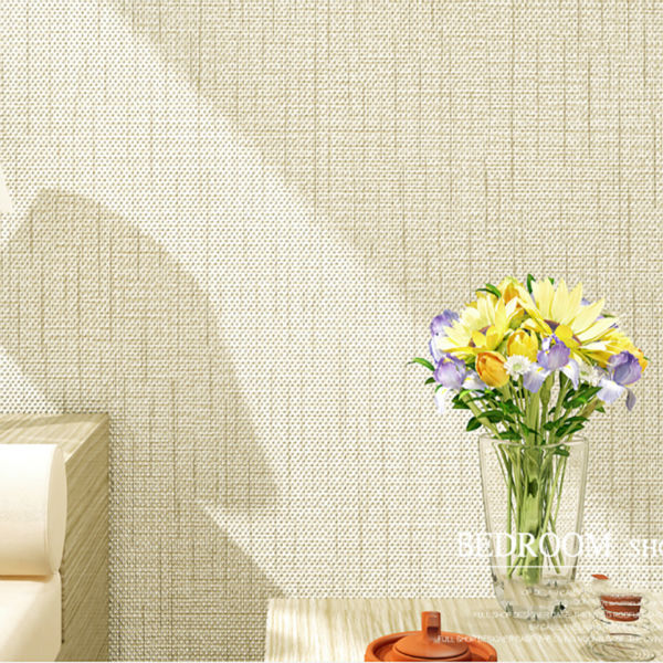 Non-woven Modern Minimalist Straw Faux Grasscloth Touch Texture Wallpaper Straw Wall Paper for Living Room and Bedroom<br>