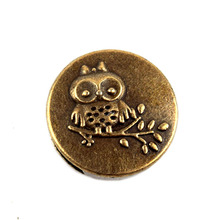 50Pcs/Lot zinc alloy beads big hole owl shaped diy beads jewelry making material finding supplier in China 2016(China)