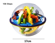 100 158 Steps Small Big Size 3D Labyrinth Magic Rolling Globe Ball Cubes Puzzle Education Brain Teaser Game Toys
