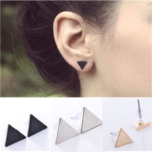 HOT Selling Fashion geometric metal Earrings Retro Gothic Hollow Round square Triangle stud earrings Square geometric Earrings