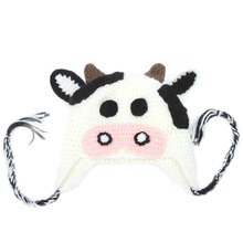 Hot Sale Toddlers Warm Cap Hat Beanie Baby Boy Girl Kids Infant Winter Lovely Cartoon Animal Cow Gorro Photography Accessories