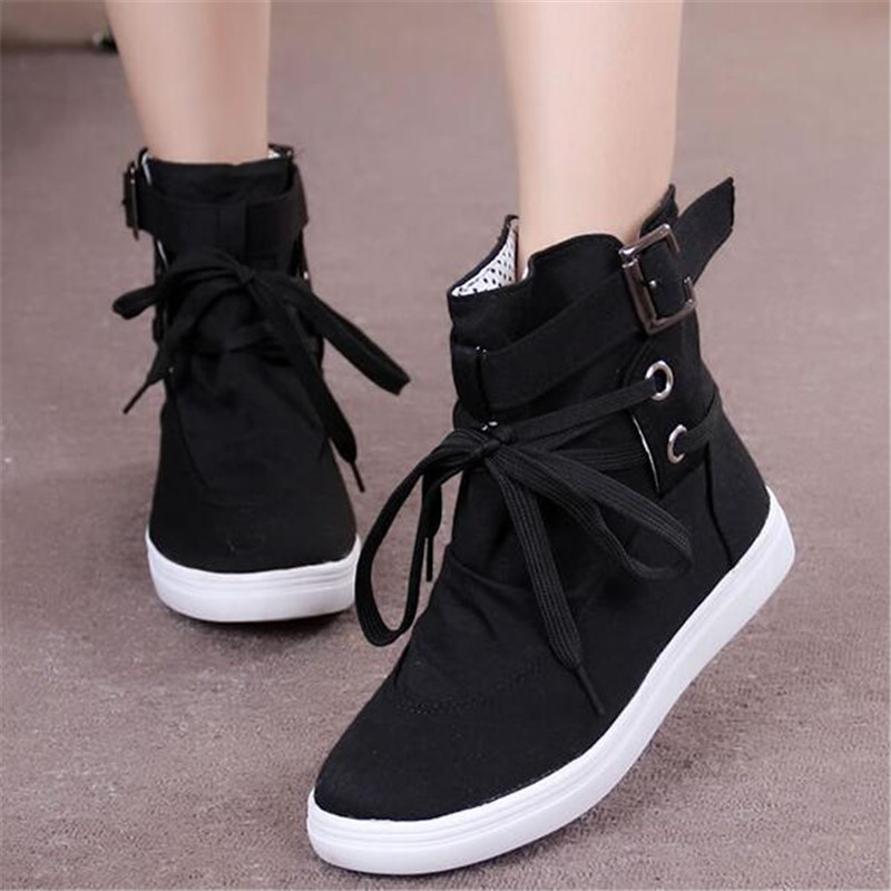 Fashion autumn boots women New women shoes Ankle Boot Brand flats canvas shoes lace-Up casual shoes Breathable Botas X305<br><br>Aliexpress