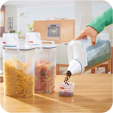 Kitchen Storage Organizer 2Kgs Grain Storage Container Rice  Box Cereal  Bean Container Sealed Box with Measuring Cup