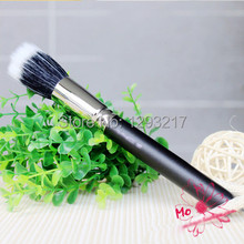 1x Makeup Cosmetic Beauty Duo Fiber Stippler Blush Foundation Powder Brush Black(China)