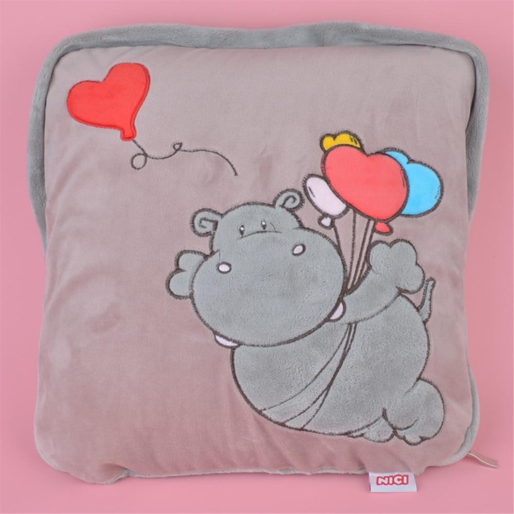 2 in 1 Multi-function Balloon Hippo Plush Cushion, Kids Child Plush Blanket Pillow Gift Free Shipping<br>