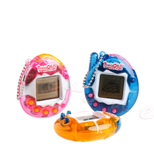 90S Nostalgic 49Pets Virtual Cyber Pet Game Child Toy Key Tamagotchi Buckles