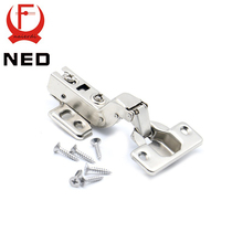 10PCS NED C Series Full Size Hinge Iron Door Hydraulic Hinges Damper Buffer Soft Close For Cabinet Cupboard Furniture Hardware(China)