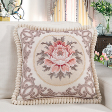 High quality handmade embroidery flower bird printed animal cotton cushion sofa car bed chair seat throw pillow A001