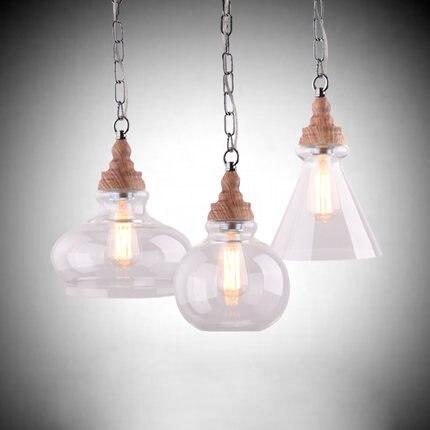 North American Continental retro pastoral village restaurant bar Taiwan Creative wood chandelier lighting<br>