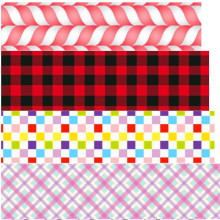16 25 38 50 75 mm width Plaid Ribbon Tartan Checked Scottish ribbon Printed polyester Grosgrain Ribbon or Satin Ribbon PD04(China)