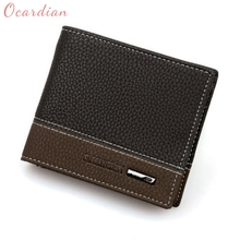 OCARDIAN High Quality Mens Leather Bifold Money Card Holder Wallet Coin Purse Clutch Pockets(China)