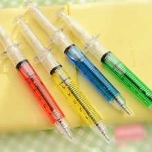 (12 Pieces/Lot) Plastic Syringe Pens Personalized Gifts For Teachers papeleria kawaii Nurse Pen Kawaii School Supplies Fun