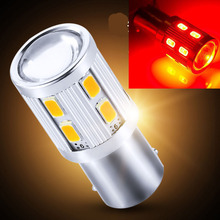 wholesale 1156 T20 1167 T25 1157 Cree 5630 with lens car rear front side signal light 12smd red yellow ed tail bulb 20pcs(China)