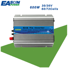 EASUN POWER 600W MPPT Micro Grid Tie Inverter 110V 220V On Grid Inverter 30V 36V Panel 72 Cells 22-60Vdc Pure Sine Wave Inverter(China)