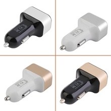 Triple 12v 24v USB Universal Car Charger Adapter 3 Port 2A 2.1A 1A For Cell Phone4 colors hot sell
