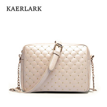 KAERLARK Brand New 2017 Bolsas Feminina Rushed Women Chains Bags Girl Ladies Messenger Diamond Lattice Rivet Crossbody WD0317(China)