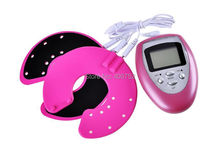 Breast enhancer/Pulse massager/Breast enlargement growth machine/body massager/female beauty product/Electrical stimulator(Pink)(China)
