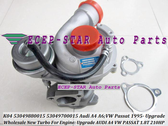 K04 K04-015 53049880015 53049700015 turbo Turbocharger For AUDI A4 A6 Upgrade VOLKSWAGE VW PASSAT 1.8T 1995- Upgrade 210HP 1.8L P (2)