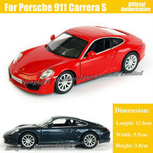 1:36 Scale Diecast Alloy Metal Luxury Sports Car Model For ThePorsche 911 Carrera S Collection Model Pull Back Toys Car(China)