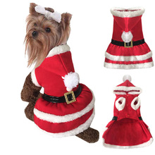 2016 dog Christmas Costume clothes  for cats puppy Yorkie terrier Chihuahua soft fleece pet dress autumn winter hoodie