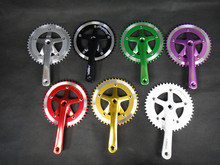 Single speed bicycle road bike lasco crank chainwheel certified products 46T  aluminum color anode crank suit sprocket