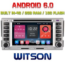 WITSON QUAD-Core Android 6.0 CAR DVD PLAYER  For HYUNDAI SANTA FE 2007-2011/ELANTRA 2000-2006 120 2G RAM BULIT IN 4G 16GB ROM