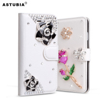 Case For Xiaomi Redmi Note 4X Glitter Rhinestone Case For Redmi Note 4X Diamond Flip Wallet PU Leather Cover Card Slot Cases(China)
