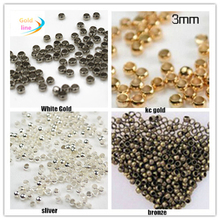 GHRQX Hot sell 300pcs 3 mm Crimp End Beads  Jewelry Clasp Jewelry Findings  Wholesale  RX1017