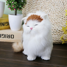 Creative Simulation Stuffed Plush Cats Dog Toys Soft Plush Toys Kids Gift Home Decoration Crafts Figurines&Miniatures Toy(China)