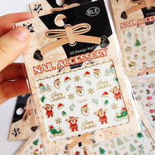 100Sheets Christmas Nail Sticker (Candy Stick,Gift Box,Ornament,Gingerbread Man, Snowflakes Nail Art Nail Decoration Manicure