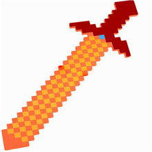 2016 Newest Style Colorful Minecraft Sword 76*20cm Best Gift for Kids Boys Girls baby toys minecraft gun&diamond outdoor player(China)