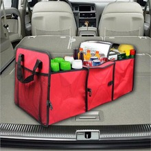 Foldable Car Organizer Storage Box Auto Trunk Bag Durable Collapsible Cargo Storage Container Insulation Bag For Car SUV Truck