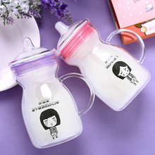 Graduated glass office affa transparent glass Pyrex brand creative coffee bottle of Sports my water bottle Christmas gift(China)
