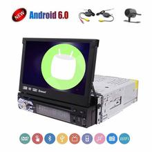 Single din 1 din 7 inch gps radio android 6.0 car dvd player Hands-free and Steering Wheel Controls,FM/AM,AUX Video Input and(China)