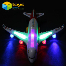 Light Music Universal Airbus A380 Plane Model Flashing Sound Electric Airplane Children Kids Toys Gifts Automatic Steering
