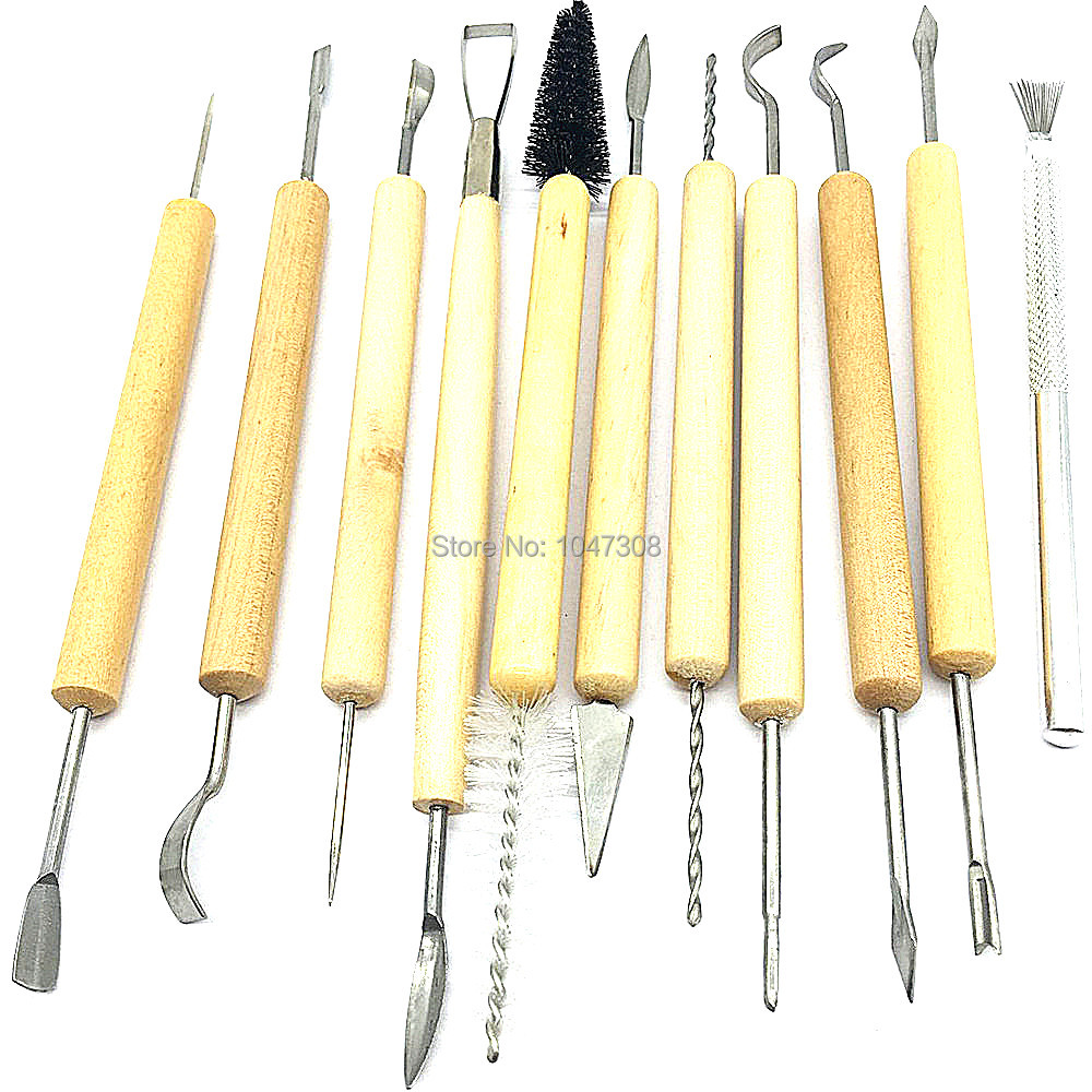 11pcs Sculpture Sculpting Tools Set for Clay Pottery Carving Modeling NICE! Pro