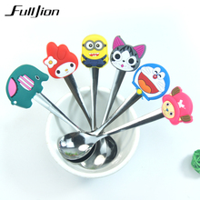 Cartoon Kawaii Stainless Steel Tea Coffee Spoon Kitchen Kids Tableware talheres cocina colher cucharas aparelho de jantar