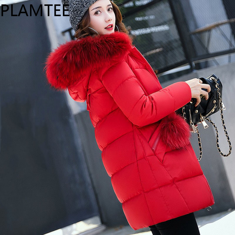 PLAMTEE Warm Fashion Clothes For Pregnant Women Winter Solid Color Casual Maternity Coats Hoodies Long Sleeves Lady Down Jacket<br>