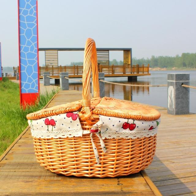 Rattan Picnic Basket Egg Basket Bag  Shopping Basket Gift Basket Basket Handbag Basket Fruit Basket A4526<br>