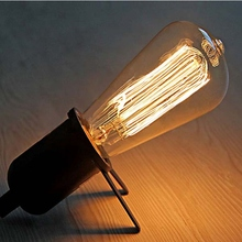 Retro Antique Edison Light Incandescent Bulbs 40W 220V/110V Vintage E26/E27 ST64 Filament Lamp lampada for Home Decor(China)