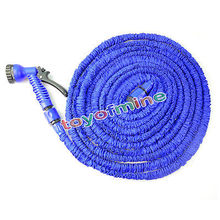 25ft 50FT 75FT 100FT Flexible Garden Water Hose Magic+Spray Gun Car Washing Pipe Retractable Rubber Watering Expandable Hose(China)